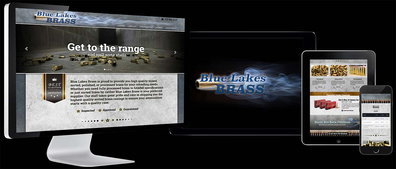Blue Lakes Brass Responsive Website